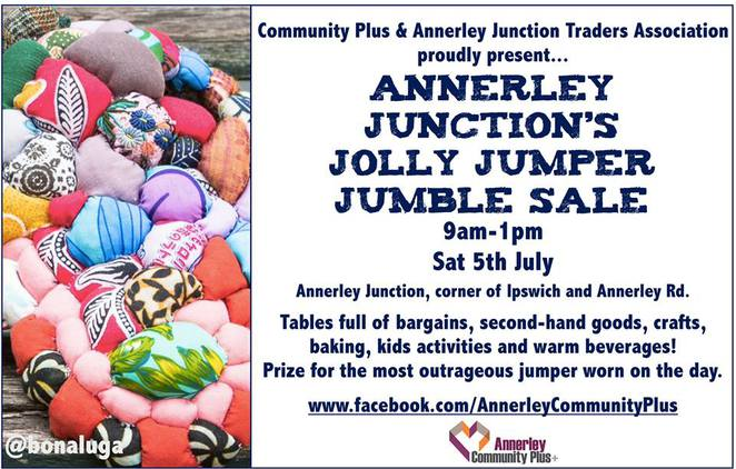 Annerley Jumble sale, Yarn bombing, bake store, St lukes