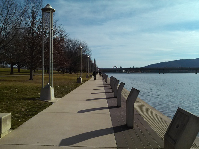 Australians of the Year walk, Lake Burley Griffin, Canberra