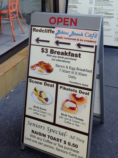 Bikini beach cafe, coffee redcliffe, cafe redcliffe, where to meet redcliffe, redcliffe markets