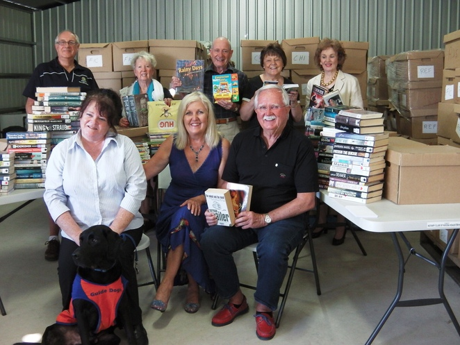 bookfest noosa, rotary, hear and say, guide dogs, noosa,