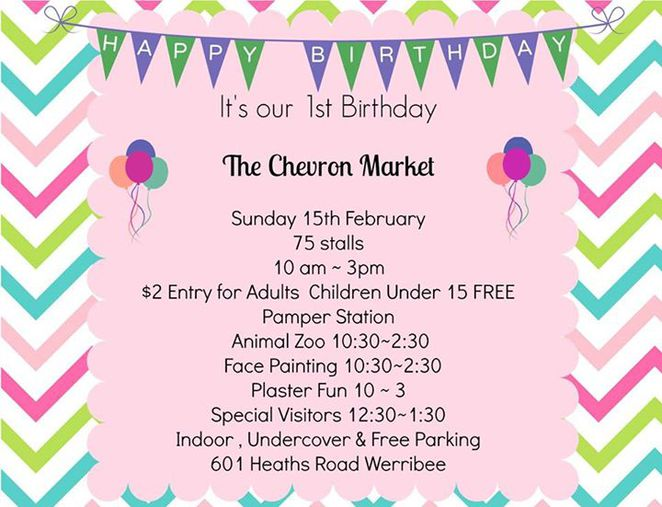 chevron market, mums in business, market, werribee, pamper station, animal zoo, face painting, artzy fun, candy hut, game of cones, character visits