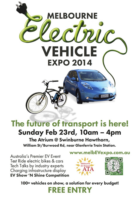 Electric car poster expo