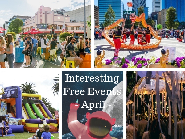 free events Perth April