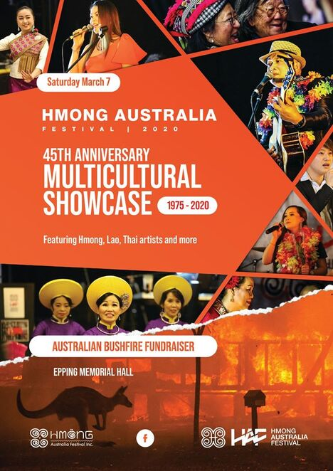 hmong australia festival, cultural event, community event, fun things to do, fundraiser, charity, bushfire relief fundraiser, epping memorial hall, entertainment, activities, night life, date night, donations, live performances, kue lee, hmong austrlaia festival, anniversary multicultural showcase, cfa, australian wildlife, food and drink, raffles, performers