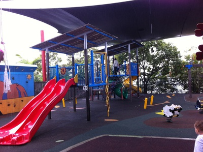 The older children's play area