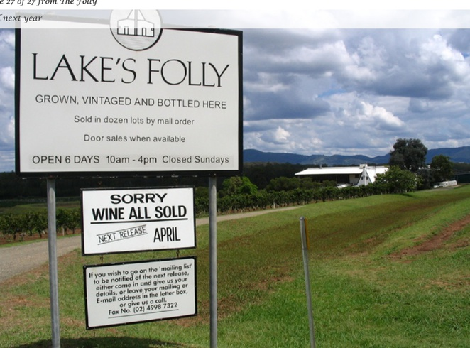 Lakes Folly, Hunter Vally, Winery, Vineyard, Chardonay, Cabernet
