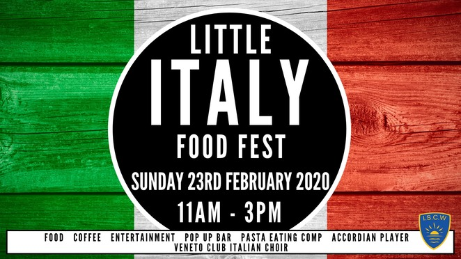 little italy food fest 2020, community event, fun things to do, cultural event, italian sports club of werribee, iscw, traditional italian foods, traditional italian coffee, entertainment, activities, accordion player, veneto club italian choir, pasta eatig competition, pop up bar, free event, date night, night out