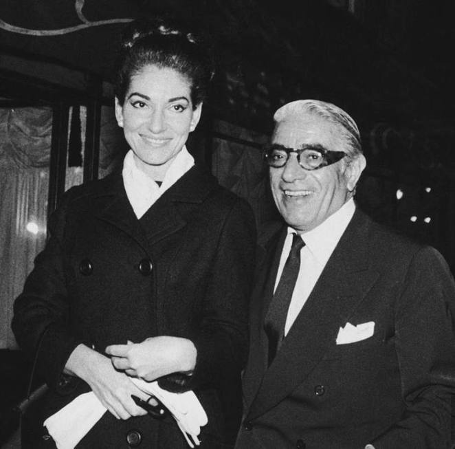 Maria Callas with Aristotle Onassis 1960