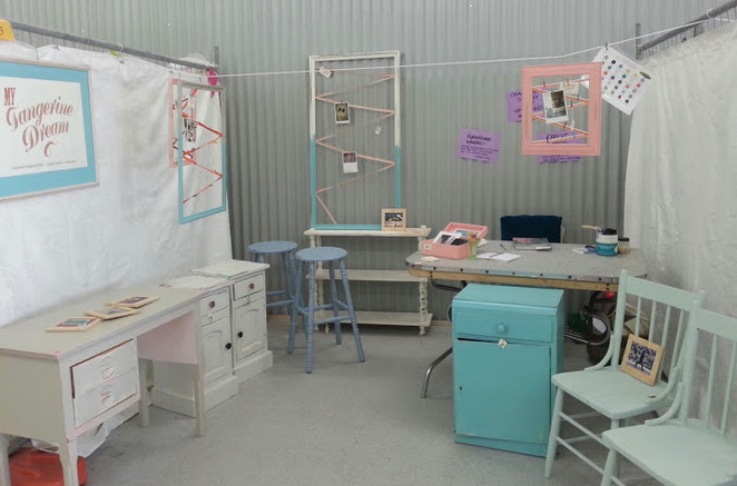 My Tangerine Dream, Mel Thew, Redcliffe Markets, Vintage, Upcycle, Furniture, Retro