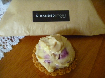 Blueberry and Lemon Curd Cheesecake Tart at The Stranded Store
