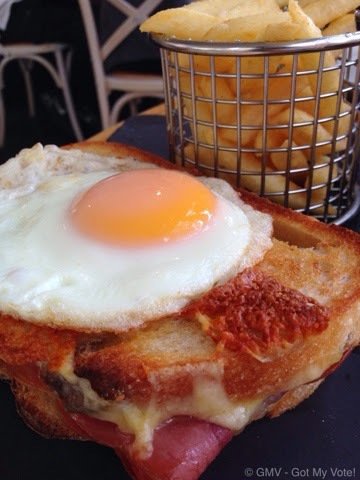 Parisian, Sandwich, Croque Madame, gruyere cheese, Jamon, GMV, Indulgence Sage, Cafe