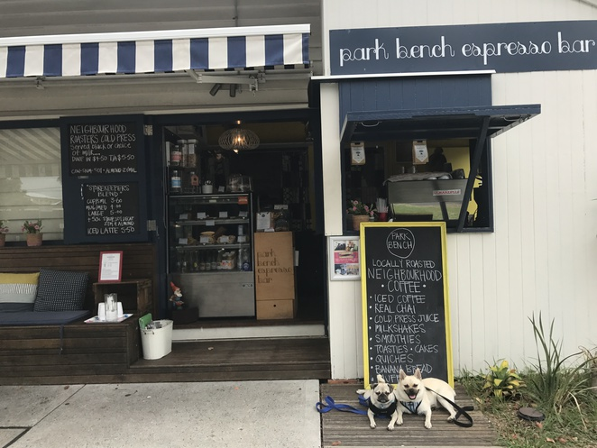park bench espresso, green grass home and body, shopping, cafe, espresso bar, dog friendly, breakfast, lunch, brunch, coffee, boutique shop, homeware, gifts, novelty, bulimba, eastern suburbs, brisbane