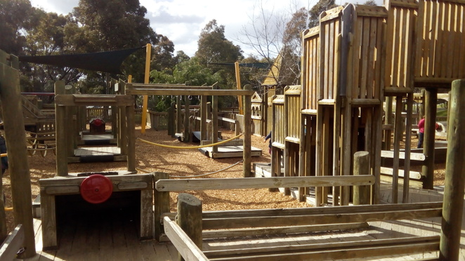 phoenix park, wooden fort, playground, malvern east