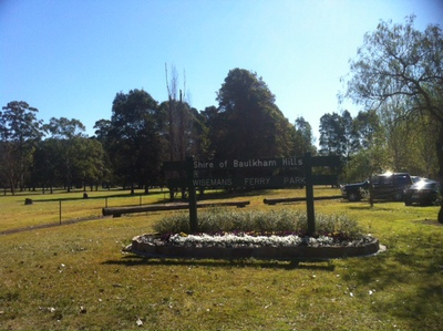 The entrance of the Wisemans Ferry Park