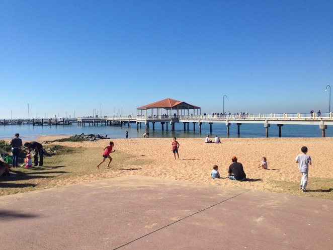 Redcliffe jetty and beach