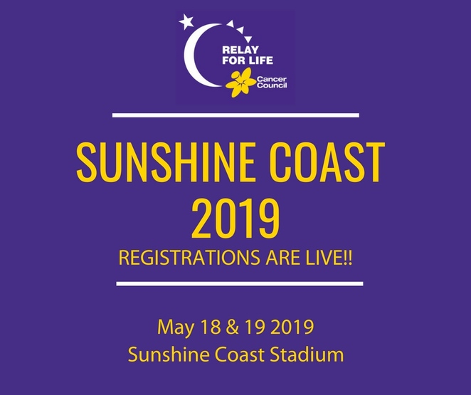 Relay for Life Sunshine Coast 2019, fun, emotionally-charged, overnight experience, Cancer Council, teams, camp-out, walking, running, skipping, The Movies, relay-ees, fundraising, start a team, join a team, candlelight ceremony of hope, entertainment, awards, food and drink vendors, FREE Sunday breakfast, get involved, donate