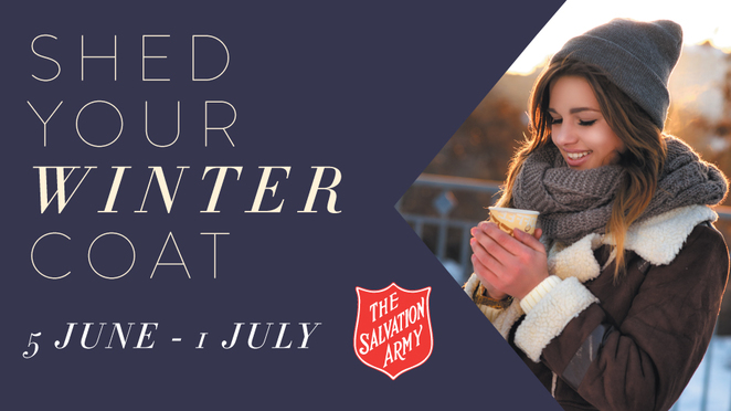 Salvation Army, Salvation Army Shed Your Coat Winter Appeal 2018, Salvation Army's Red Shield Appeal, Salvation Army Perth, Karrinyup Shopping Centre, Donate To The Needy Perth, Homeless Support Perth