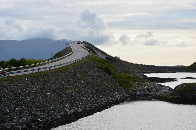 Storseisundet Bridge, Atlantic Ocean Road, Norway