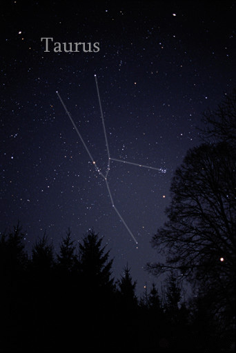 Image of the constellation Taurus courtesy of Till Credner @ All The Sky