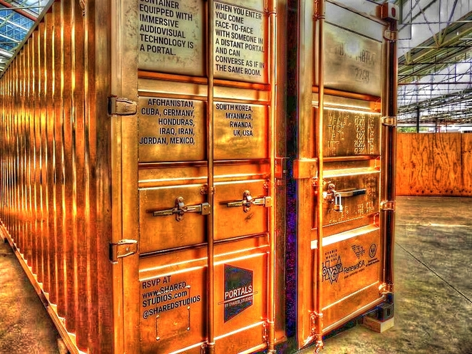 The Adelaide Portal, Adelaide Portal, adelaide, portal, gold shipping container, gold, shipping container, royal adelaide hospital, shared studios