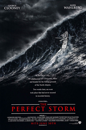 The Perfect Storm, weather movies, Andrea Gail, George Clooney, mark Wahlberg, storm at sea,