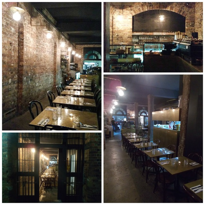 vicolo cafe, converted warehouse restaurant, dinner in sydney, italian food sydney