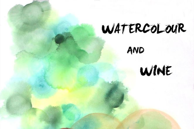 watercolour and wine
