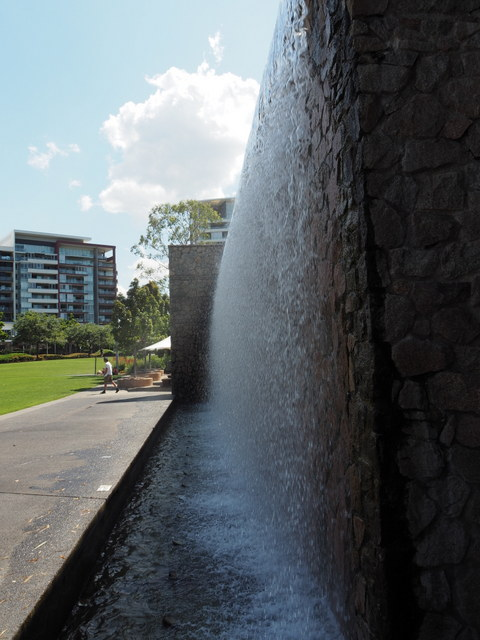 Waterfall, Roma St Parklands
