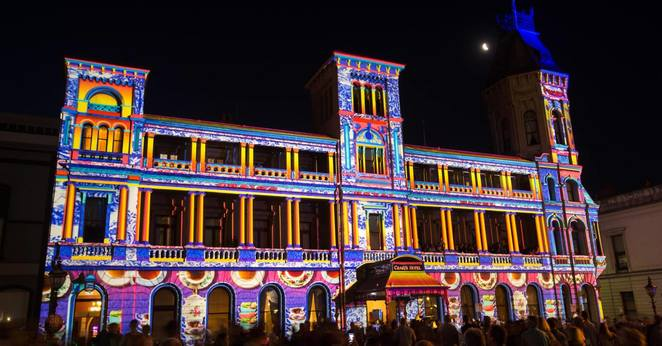white night ballarat 2018, night life, community event, free events, fun things to do, exhibitions, films, lighting, street party, projections, nonstop adventure, artists, bands, music, from dusk to dawn