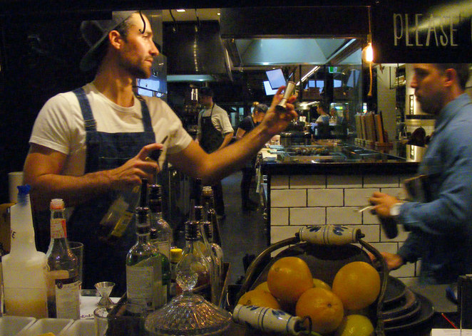 Cocktails being made at Zeus Street Greek