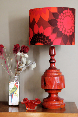 Lamps and lampshades by Retro Print Revival