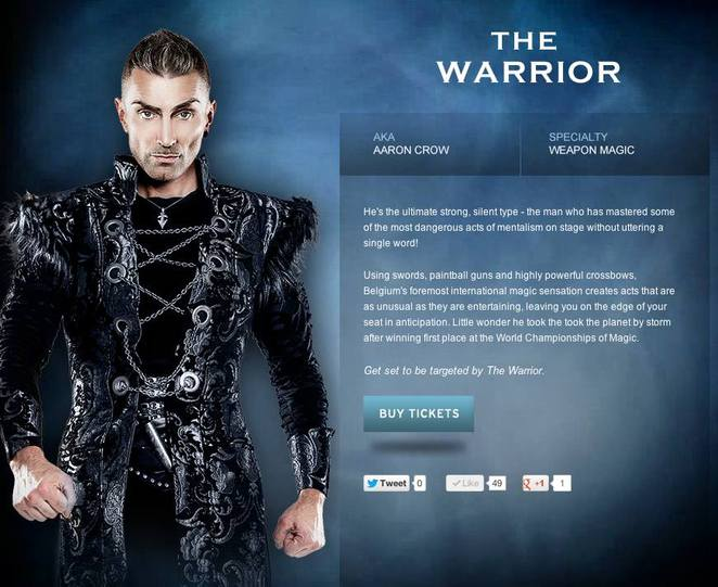 Aaron Crow The Warrior The Illusionists
