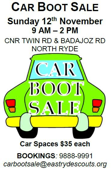 car boot sale scouts north ryde east ryde