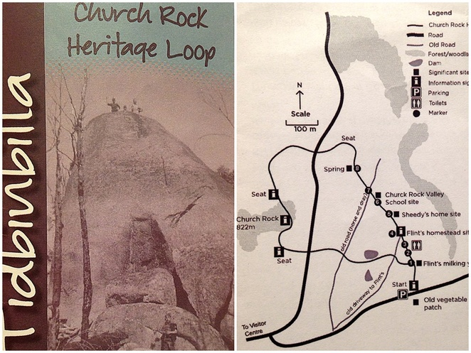 church rock heritage trail, canberra, tidbinbilla, church rock, bushwalks, short walks,