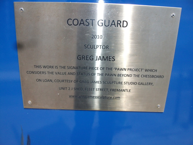 Coast Guard, sculpture, Greg James, Cicerello's, Fremantle, public art, Bon Scott
