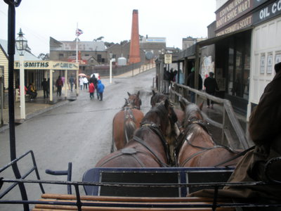 Horse and cart ride around Sovereign Hill