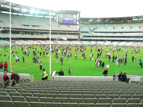 Footy, football, AFL special days, MCG open day, AFL grand final, footy grandfinal, football events, Federation square events, AFL Auskick Super clinic