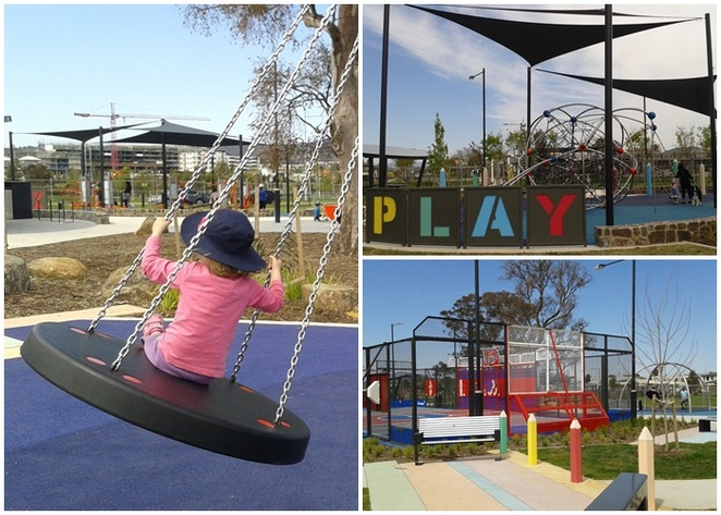 franklin recreational park, playground, ACT, gungahlin, kids, families, children, things to do in north canberra, parks, picnics, parties, BBQs,
