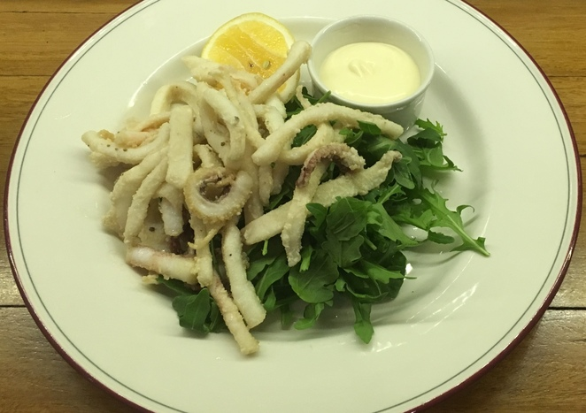 Fresh local baby calamari - the best in area - photo Joe Hillebrand all other photography by Tricia Ziemer