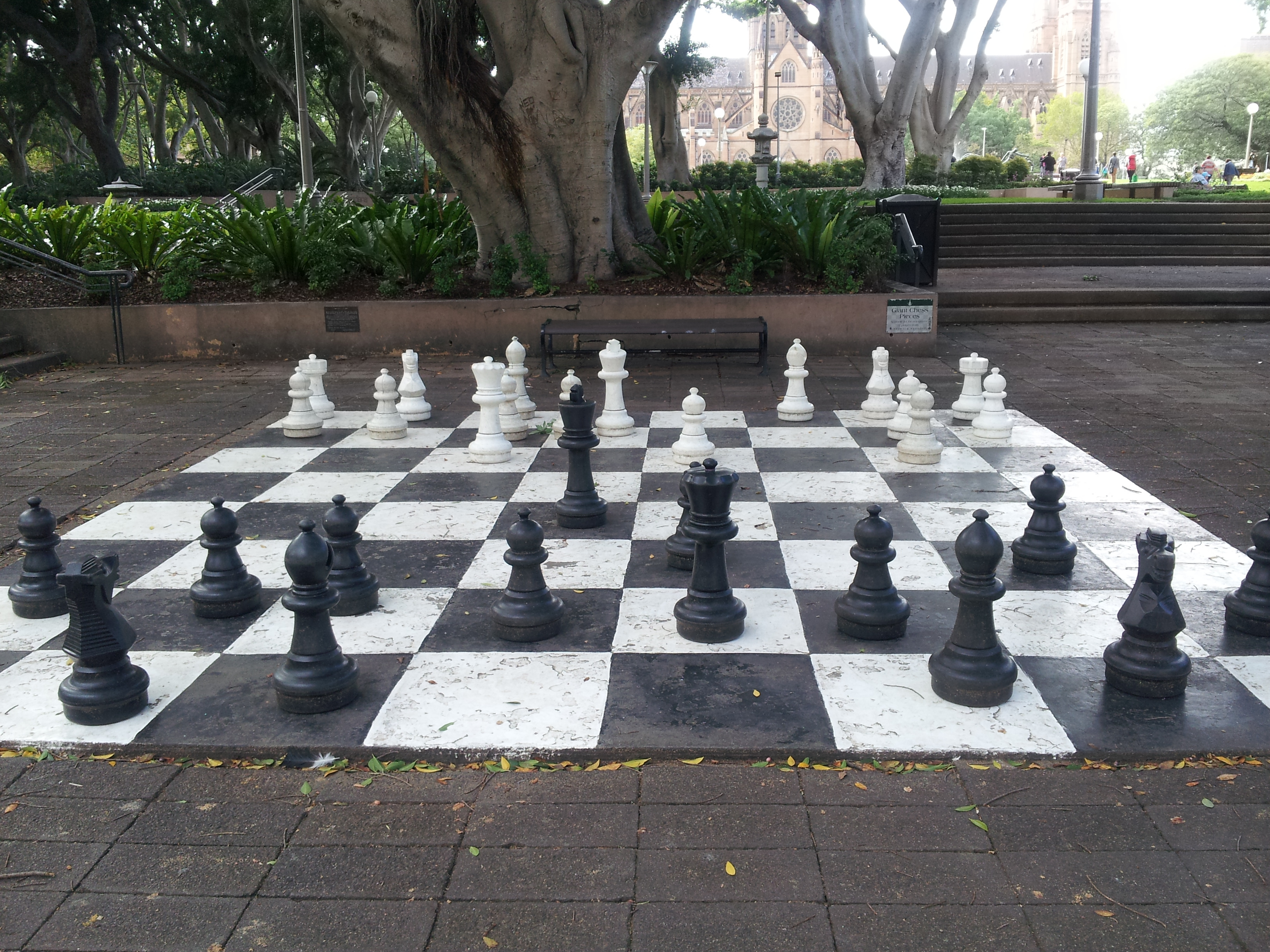 Giant Chess At Nagoya Gardens Hyde Park Sydney