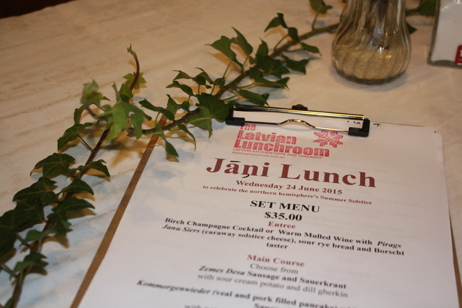 Jani Day Lunch Menu