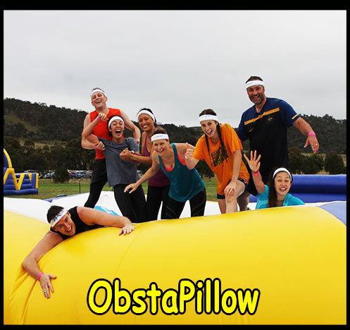 inflatable,obstacle,pillow,obstasplash,yellow