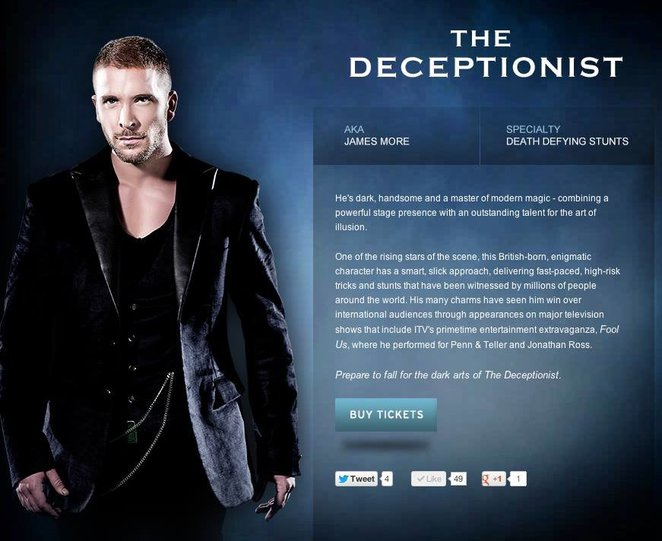 James More The Deceptionist The Illusionists