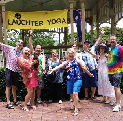 laughter, yoga, fun, exercise, feel good, New Farm, Brisbane Laughter Club