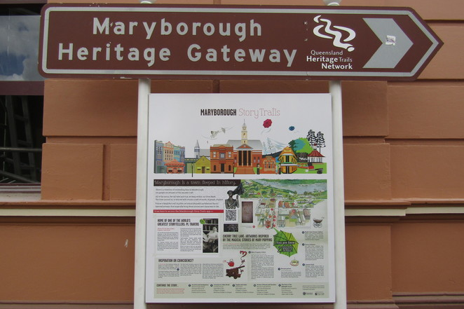 Maryborough Story Trail, Mary Poppins, Maryborough, walking tour, history, Portside Heritage Precinct,