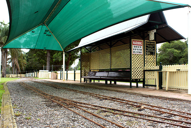 Mini train station at walka water works