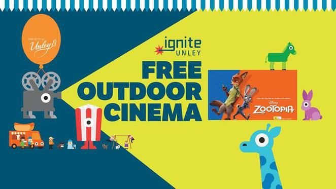 outdoor cinema unley city council event family free