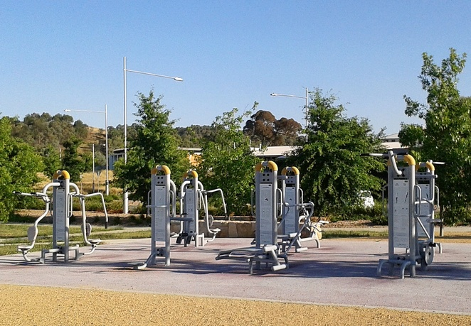 outdoor exercise, fitness, crace recreation park, canberra, gunaghlin, ACT, exercise, outdoor gym,