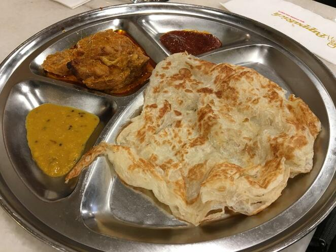Papparich March Specials, Curry Chicken Roti Canai, Adelaide
