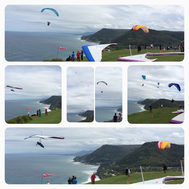 paragliding and hanggliding at baldhill